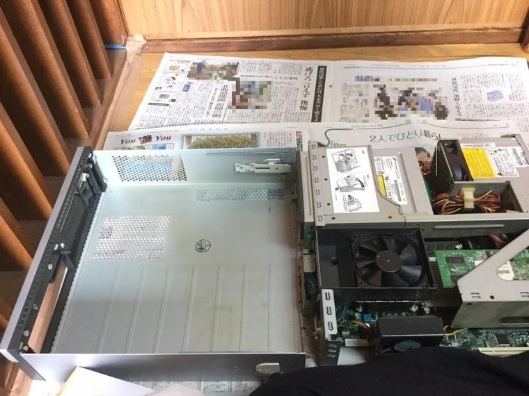 デスクトップパソコンの内部クリーニング/富士通 Windows XPのイメージ
