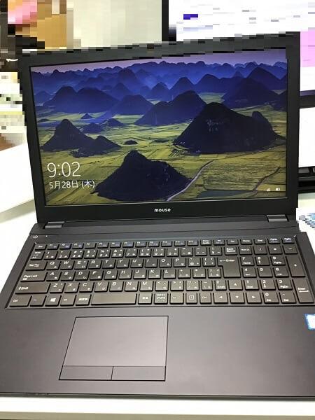 ノートパソコンの液晶画面が割れた/マウスコンピューター Windows 10のイメージ