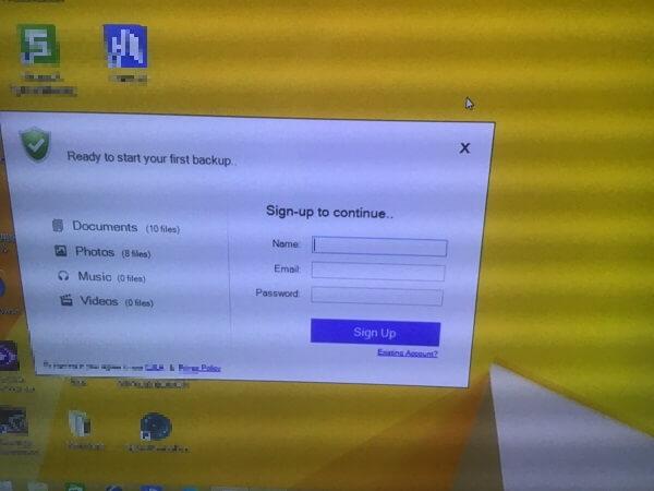 デスクトップパソコンに変な表示が出てくる/ドスパラ Windows 8.1/8のイメージ