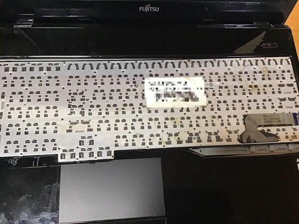 ノートパソコンの内蔵キーボードが反応しない/富士通 Windows 10のイメージ
